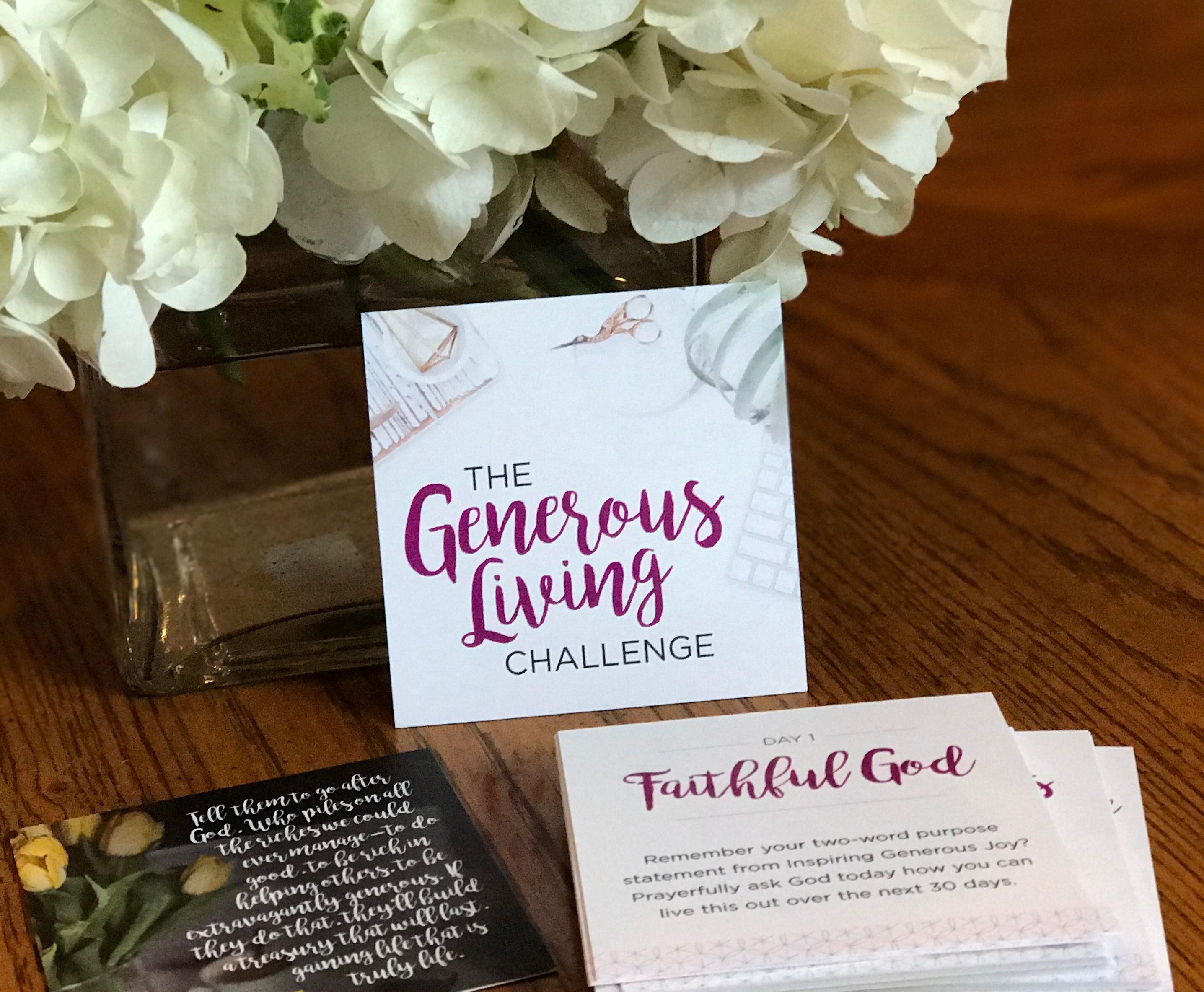 Generosity Challenge Cards