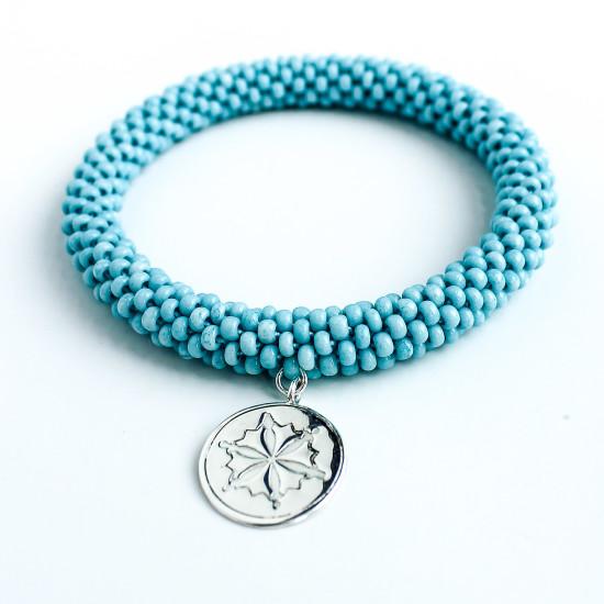Aquamarine Charm Style Bracelet