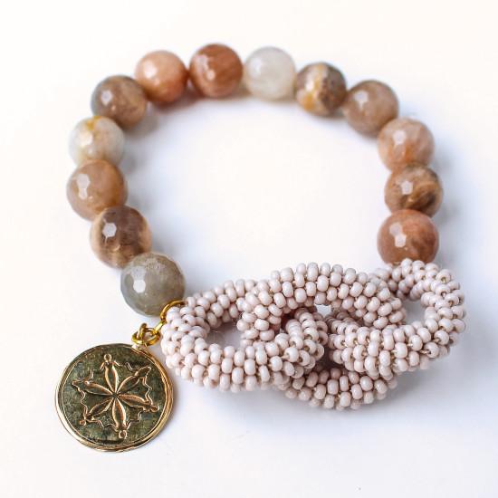 Blush Link Style Bracelet