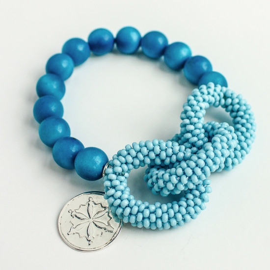Aquamarine Link Style Bracelet