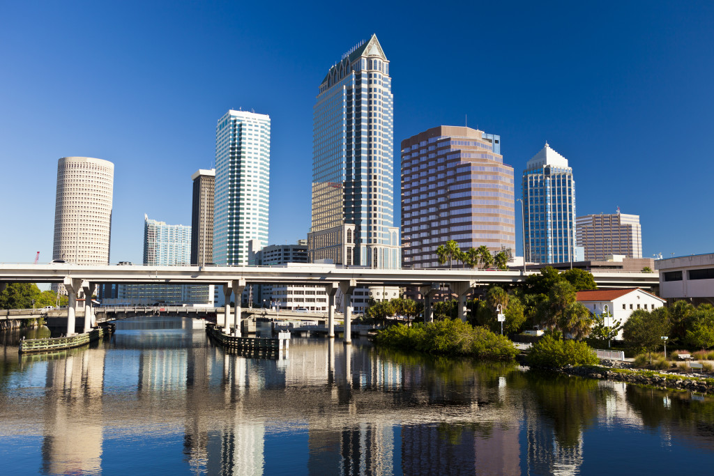 Downtown Tampa, Florida on a sunny day.